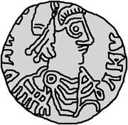 25 denarii Thrasamund (Carthage) – avers