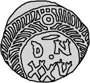 25 denarii Thrasamund (Carthage) – revers