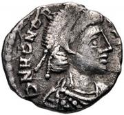 ½ silique Anonyme / Au nom d'Honorius, 393-423 (Carthage) – avers