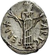 50 denarii Hildéric (Carthage) – revers