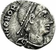 1 silique Anonyme / Au nom d'Honorius, 393-423 (Carthage) – avers