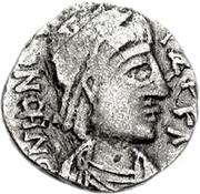 1 silique Genséric / Au nom d'Honorius, 393-423 (Carthage) – avers