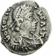 1 silique Hunéric / Au nom d'Honorius, 393-423 (Carthage) – avers