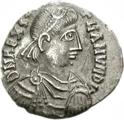 100 denarii Gunthamund (Carthage) – avers