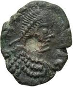 1 nummus Anonyme / Au nom de Léon I, 457-474 (Carthage) – avers