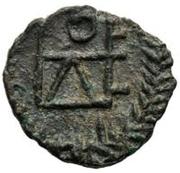 1 nummus Genséric / Au nom de Théodose II, 408-450 (Carthage;  monogramme régulier) – revers