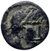 1 nummus Genséric / Au nom de Théodose II, 408-450 (Carthage; monogramme à l'envers) – avers