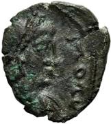 1 nummus Gunthamund (Carthage; Chi Rho inversé) – avers