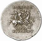 Tetradrachm - Eukratides I – revers