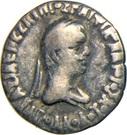 Drachme d'Apollodotos II – avers