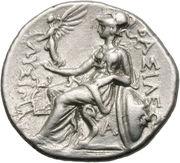 Drachme de Lysimaque (Royaume de Thrace) – revers