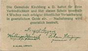 99 Heller ( Kirchberg an der Donau) – revers