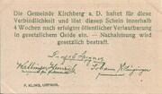10 Heller (Kirchberg an der Donau) – revers