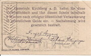 50 Heller (Kirchberg an der Donau) – revers