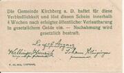 99 Heller (Kirchberg an der Donau) – revers