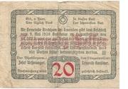 20 Heller (Kirchham) – revers