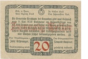 20 Heller (Kirchham) -  revers