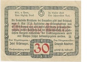 30 Heller (Kirchham) – revers