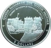 5 dollars (Château de Windsor) – revers