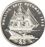 5 dollars (Potomac) – revers