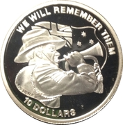 10 dollars (We Will Remember Them) – revers