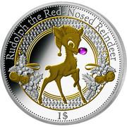 1 dollar (Christmas Island; Rudolph) – revers