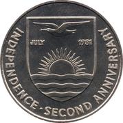 5 dollars (Indépendance & Mariage du prince Charles et de Diana Spencer) – avers