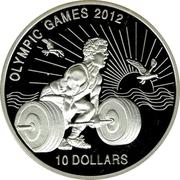 10 Dollars (Olympic Games 2012) – revers
