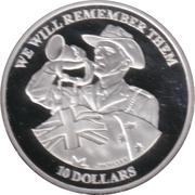 10 Dollars - Elizabeth II (We Will Remember Them) – revers