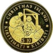 10 dollars (La naissance du Christ) – revers