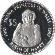 5 Dollars (Princess Diana) – revers