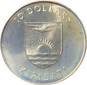 10 dollars (5e anniversaire de l'indépendance) – avers