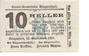 10 Heller (Klagenfurt) – avers