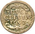 1 Duit - Friedrich III – revers