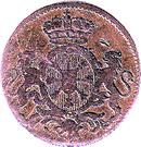 1 duit Friedrich II – avers
