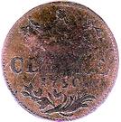 1 duit Friedrich II – revers