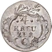 4 Kreuzer - Friedrich II. – revers