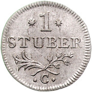 1 Stüber - Friedrich II. – revers