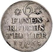 ⅙ Thaler - Friedrich II. – revers