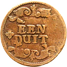 1 Duit - Friedrich III. – revers