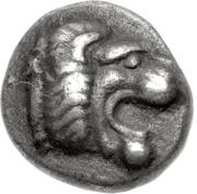Trihemiobol (Knidos) – avers