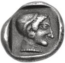 Trihemiobol (Knidos) – revers