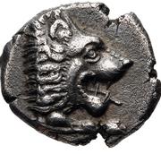 Diobol (Knidos) – avers