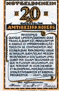 20 Pfennig (Amtsbezirk Koberg) – avers