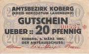 20 Pfennig (Koberg) – avers