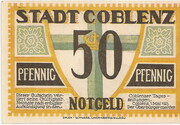 50 Pfennig (Coblenz) -  avers