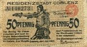 50 Pfennig (Coblenz) – avers