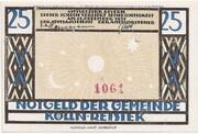 25 Pfennig (Kölln-Reisiek) – revers