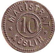 10 pfennig - Köslin – avers