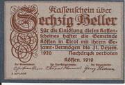 60 Heller (Kössen in Tirol) – avers